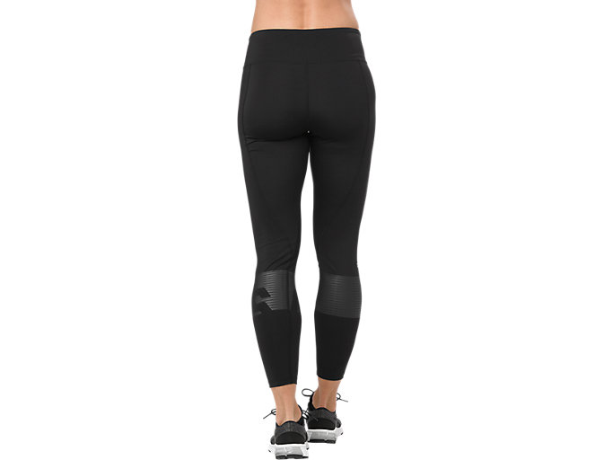 Back view of COLOR BLOCK TIGHT, PERFORMANCE BLACK