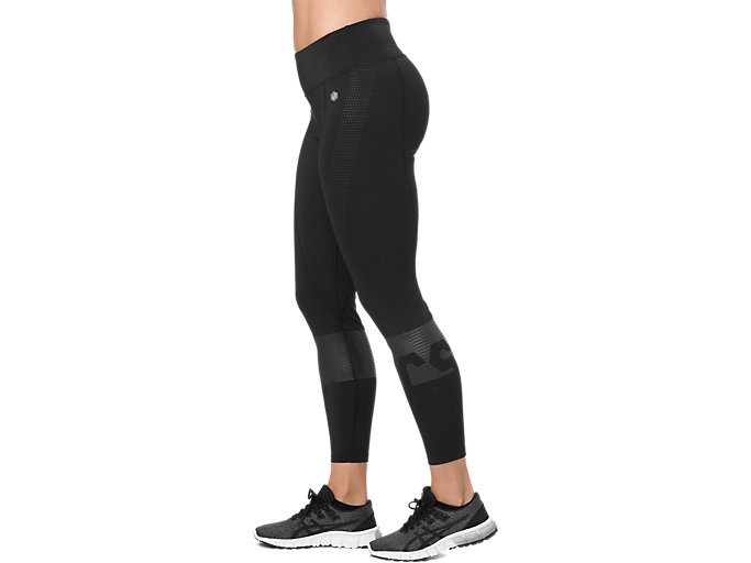 Side view of COLOR BLOCK TIGHT, PERFORMANCE BLACK