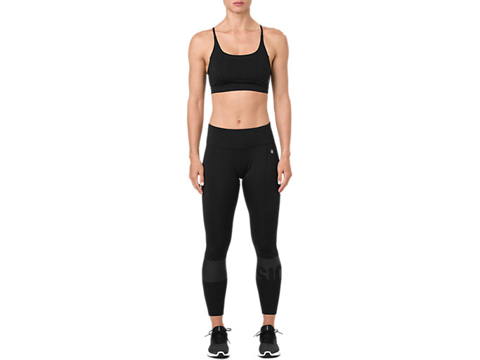 Front Top view of COLOR BLOCK TIGHT, PERFORMANCE BLACK