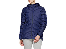 Front Top view of W DOWN JKT, PEACOAT