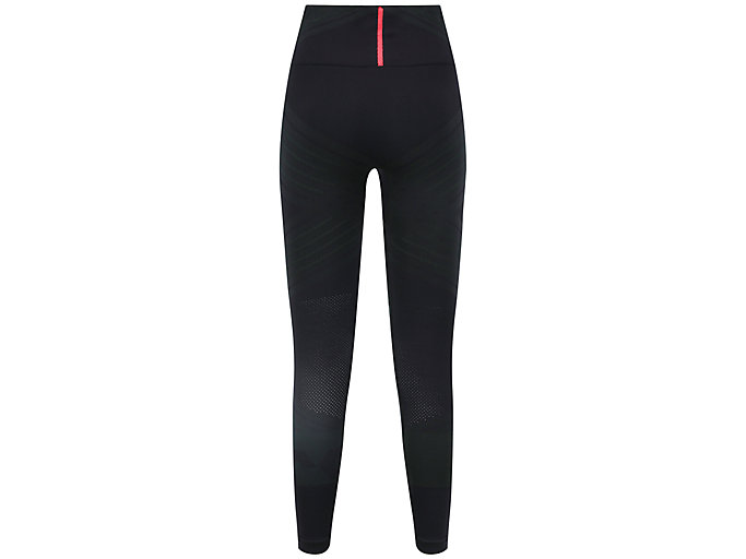 Back view of W SEAMLESS CPD TIGHT, PERFORMANCE BLACK