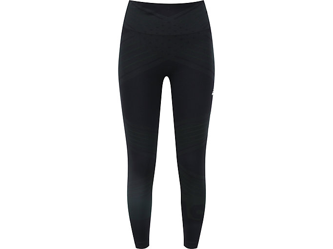 Front Top view of W SEAMLESS CPD TIGHT, PERFORMANCE BLACK