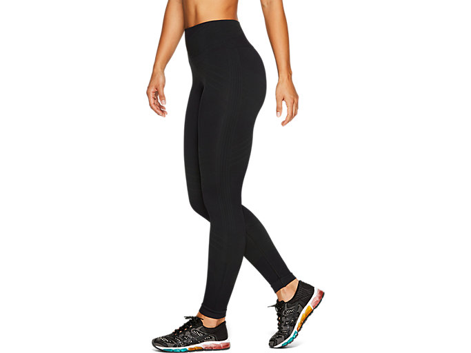 Side view of W SEAMLESS CPD TIGHT, PERFORMANCE BLACK