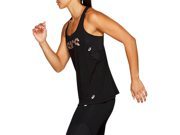 Side view of W GPX STRAP TANK, PERFORMANCE BLACK