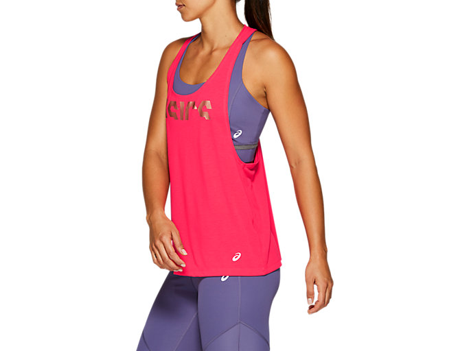 Side view of W GPX STRAP TANK, LASER PINK