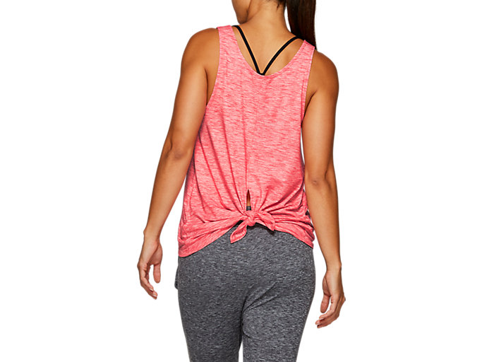 Back view of W TANK, LASER PINK HEATHER