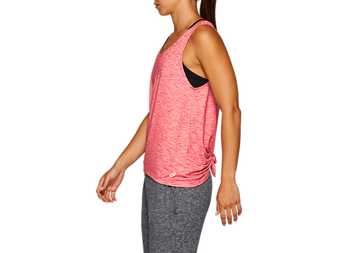 Side view of W TANK, LASER PINK HEATHER