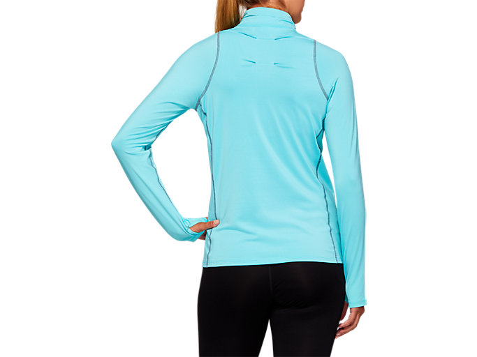 Back view of THERMOPOLIS Half Zip Top