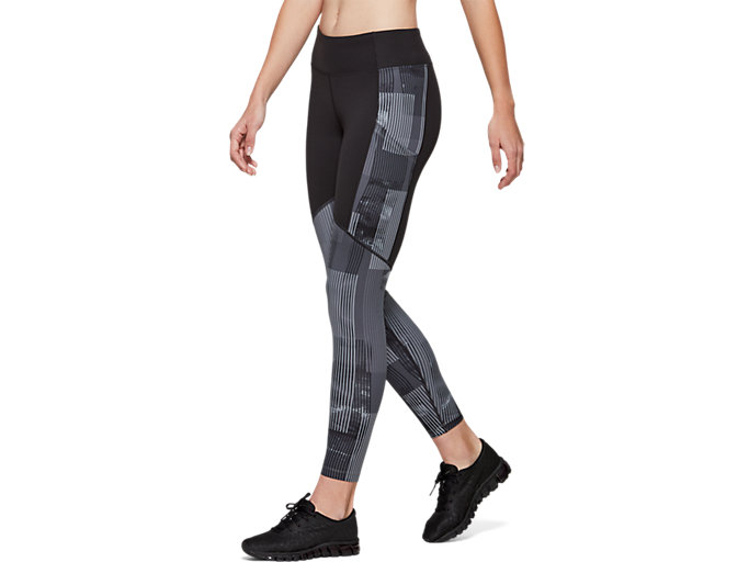 Side view of Printed Train Legging