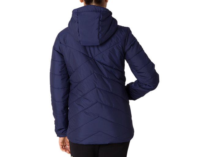 Back view of W'S インシュレーションジャケット, ピーコート