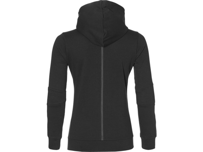 Back view of TAILORED FZ HOODY, PERFORMANCE BLACK