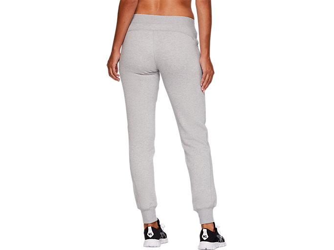 Back view of SPORT KNIT PANT, MID GREY HEATHER
