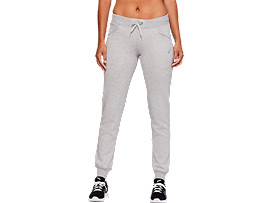 Front Top view of SPORT KNIT PANT, MID GREY HEATHER