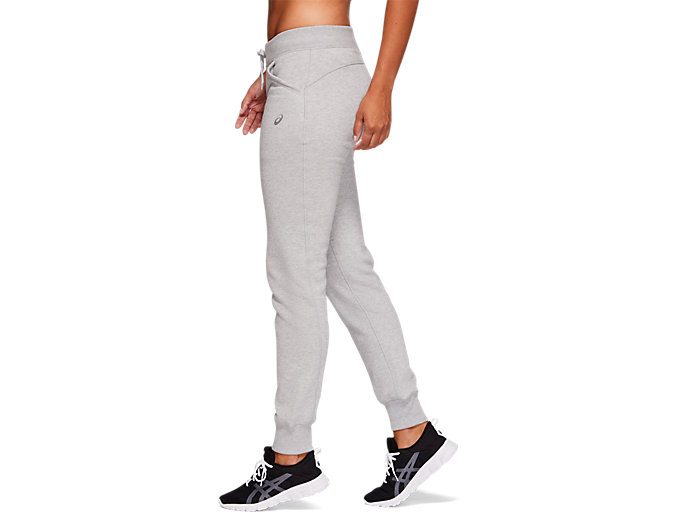 Side view of SPORT KNIT PANT, MID GREY HEATHER