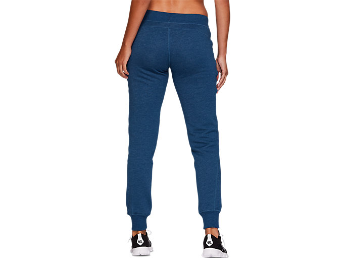 Back view of SPORT KNIT PANT, MAKO BLUE HEATHER
