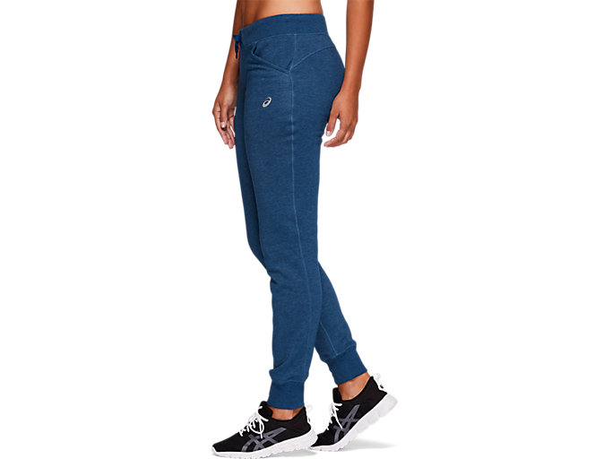 Side view of SPORT KNIT PANT, MAKO BLUE HEATHER