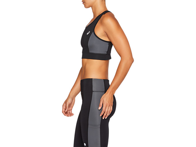 Side view of COLOR BLOCK BRA, PERFORMANCE BLACK