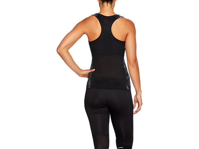 Back view of FITTED GPX TANK, PERFORMANCE BLACK/IRONCLAD