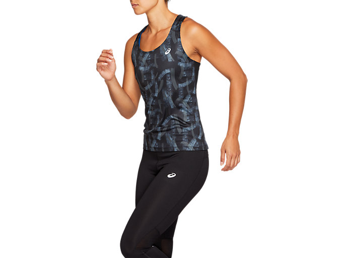 Side view of FITTED GPX TANK, PERFORMANCE BLACK/IRONCLAD