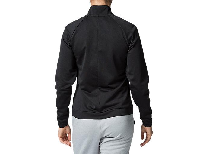 Back view of W'S TOKYO ウォームアップジャケット, パフォーマンスブラック/ブリリアントホワイト