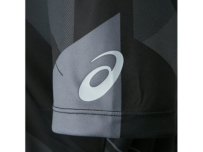 Alternative image view of W'S JP グラフィックショートスリーブトップ, パフォーマンスブラック