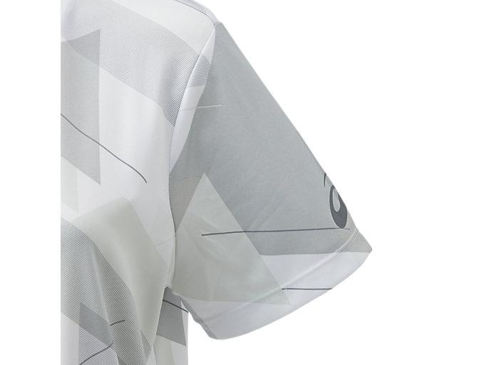 Alternative image view of W'S JP グラフィックショートスリーブトップ, ブリリアントホワイト