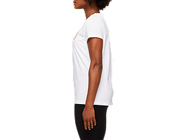 Side view of LOGO GRAPHIC TEE, BRILLIANT WHITE