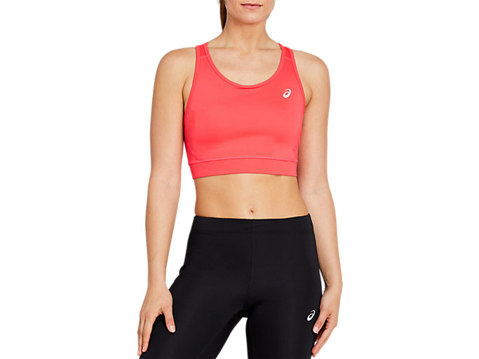 Front Top view of SPORT BRA TOP, LASER PINK