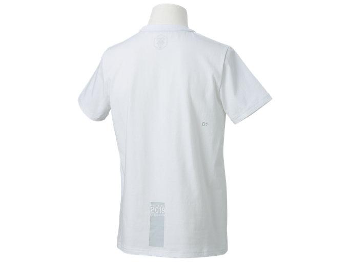 Back view of カレッジ 卒業Tシャツ, Wホワイト