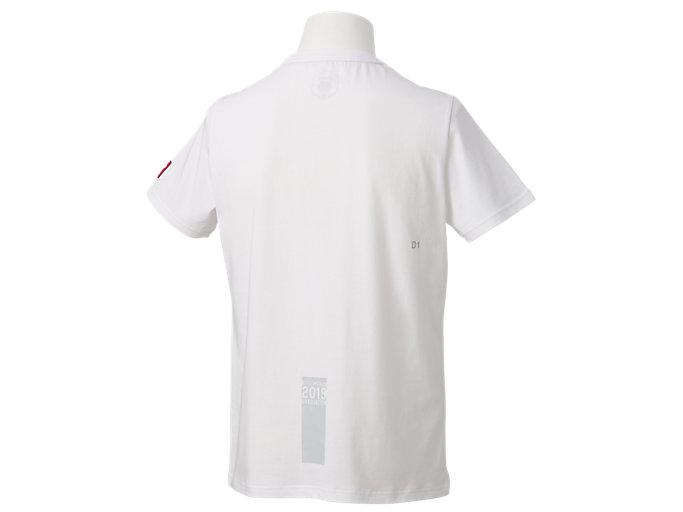 Back view of カレッジ 卒業Tシャツ, Aホワイト