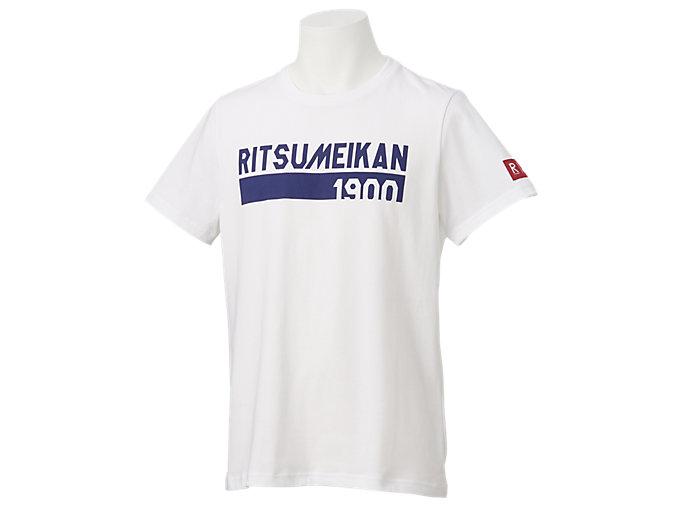 カレッジ ネームシャツHS (早稲田・立命館), Wホワイト