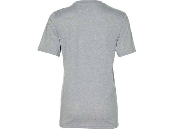 Back view of CITY SS TOP 1, MID GREY HEATHER