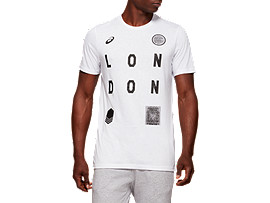 Front Top view of LDN CITY SS TOP, BRILLIANT WHITE