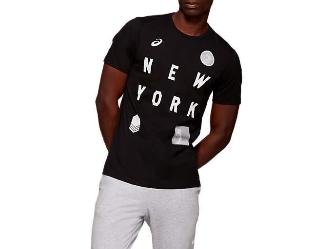 Front Top view of NYC Short Sleeve T-Shirt