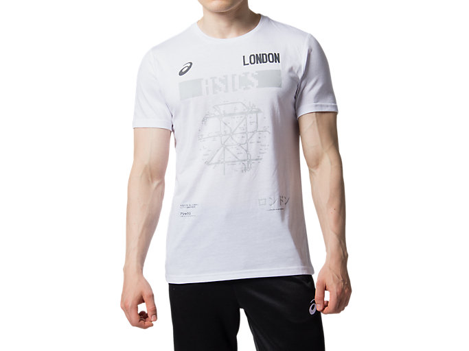 Front Top view of LDN CITY SS TOP 2, BRILLIANT WHITE