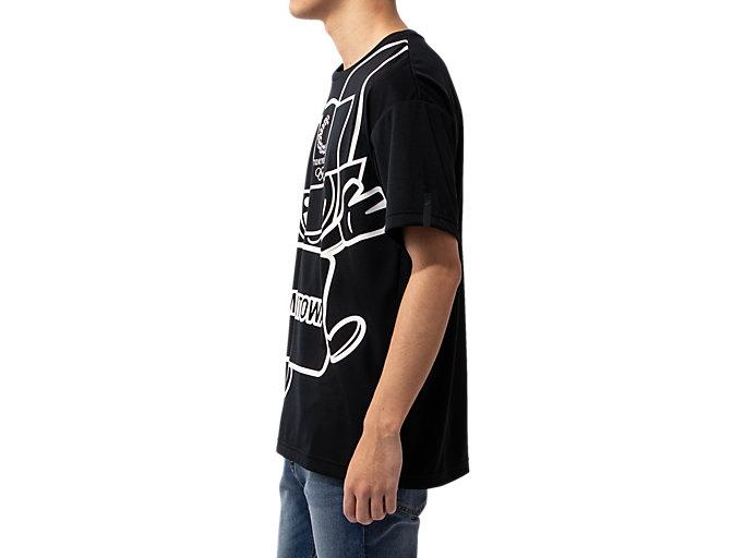 Side view of Tシャツ(東京2020オリンピックマスコット), ブラック