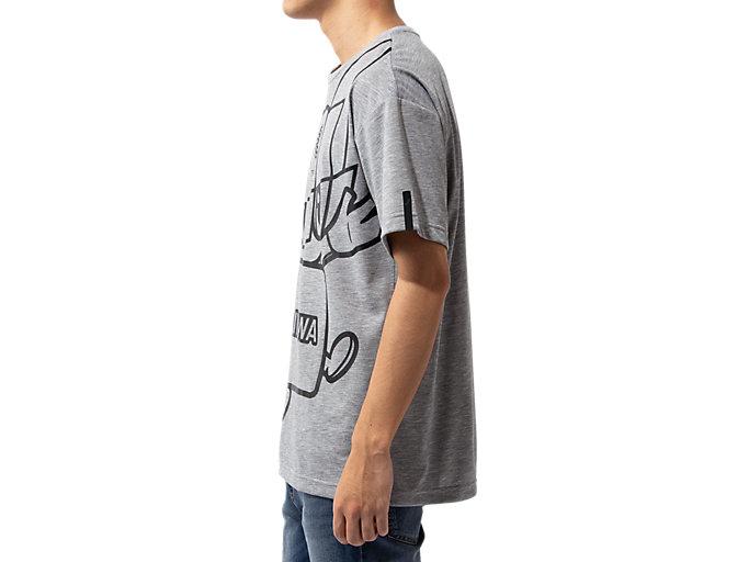 Side view of Tシャツ(東京2020オリンピックマスコット), グレー杢