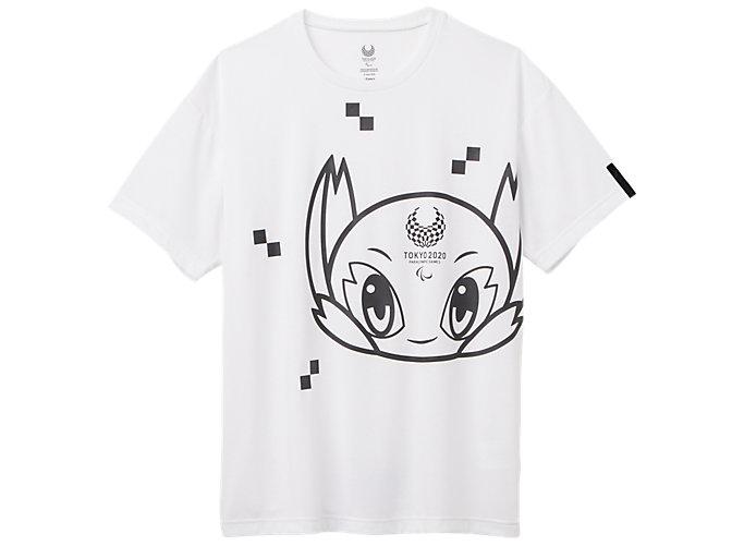 Front Top view of Tシャツ(東京2020パラリンピックマスコット), ホワイト