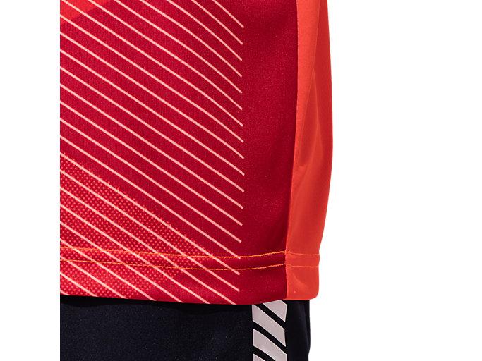 Alternative image view of ポロシャツ(JOCエンブレム), サンライズレッド