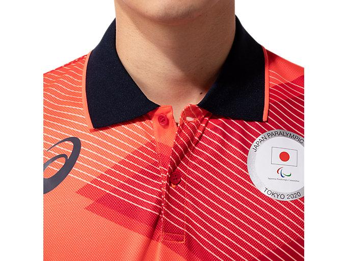 Alternative image view of ポロシャツ(JPCエンブレム), サンライズレッド