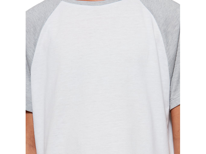 Alternative image view of G COLOR BLOCK SS T, BRILLIANT WHITE/MID GREY HEATHER