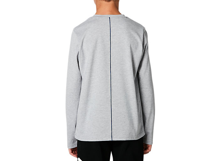 Back view of B GPX LS TEE, MID GREY HEATHER