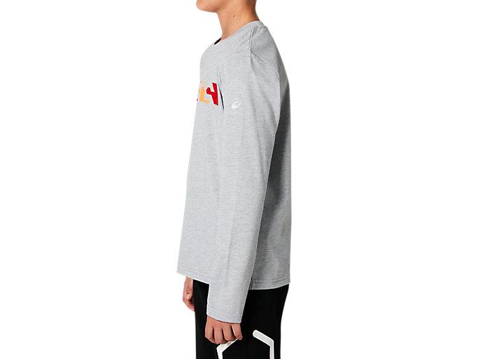 Side view of B GPX LS TEE, MID GREY HEATHER