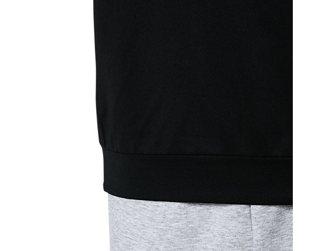 Alternative image view of Jr.LIMO®裏起毛ストレッチニットクルー, パフォーマンスブラック