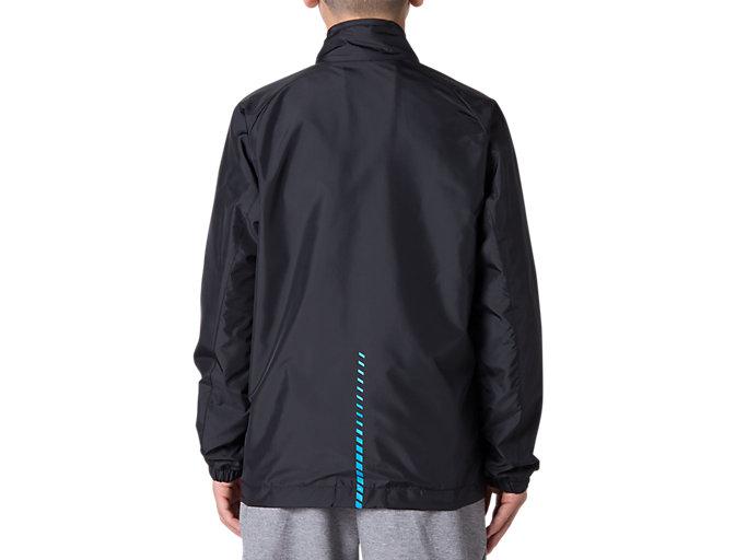 Back view of Jr.LIMO®裏トリコットブレーカージャケット, パフォーマンスブラック