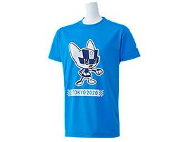 Front Top view of Tシャツ Kids(東京2020オリンピックマスコット), Oブルー