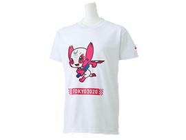 Front Top view of Tシャツ Kids(東京2020パラリンピックマスコット), ホワイト