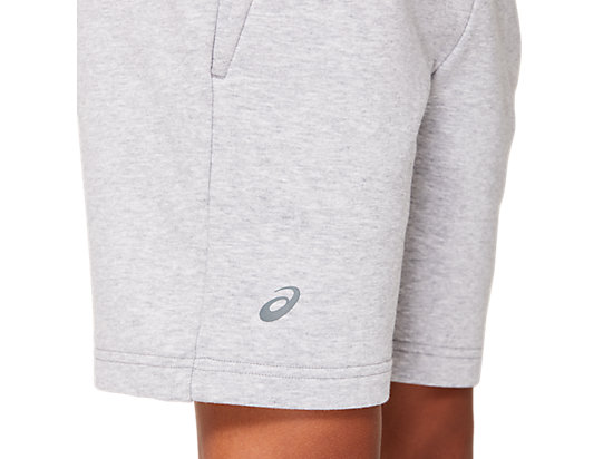 B FRENCH TERRY SHORT STONE GREY HEATHER