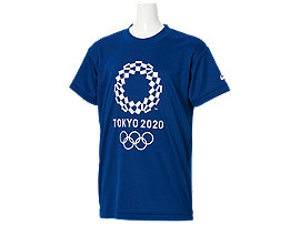Front Top view of Tシャツ Kids(東京2020オリンピックエンブレム), EMネイビー