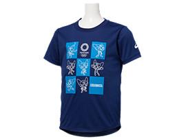 Front Top view of Tシャツ Kids(東京2020オリンピックマスコット), EMネイビー